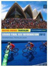 grand final bid information 2013 - International Triathlon Union