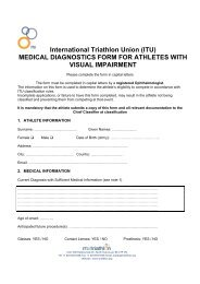 medical diagnostics form for athletes with visual impairment
