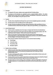 ITU Uniform Rules - International Triathlon Union