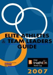 Athletes and Team leaders Guide. - International Triathlon Union