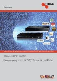 Receiverprogramm für SAT, Terrestrik und Kabel