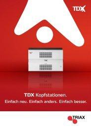 TDX Kopfstationen. - Triax