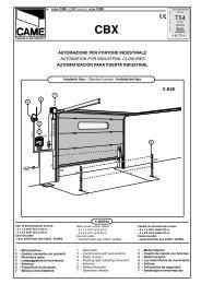 c-bxe automazione per portone industriale automation for ... - Tribpt