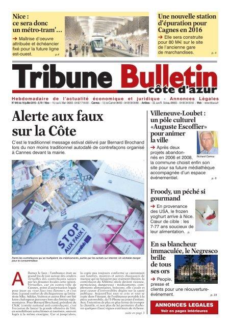 545 textes indd - Tribune Bulletin Côte d'Azur