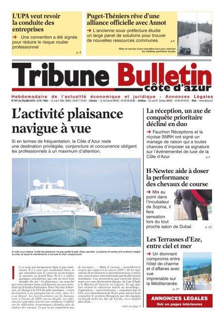 on sale big discount finest selection 547 textes.indd - Tribune Bulletin Côte d'Azur