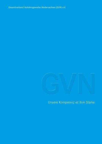 Gesamtverband Verkehrsgewerbe Niedersachsen (GVN) e.V. Imagebroschüre
