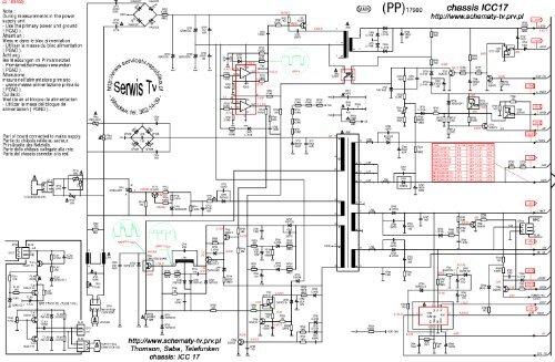 schemat Tv - Thomson, Saba, Telefunken chassis ICC17