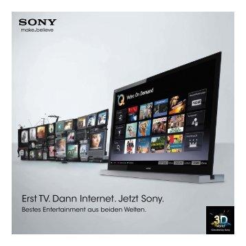 Erst TV. Dann Internet. Jetzt Sony. - Heimkinomarkt