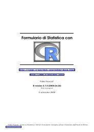 Formulario di Statistica con R - CRAN