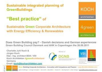 koch@kocharchitekten.com Does Green Building pay?