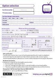 Options form (pdf 389kb) - Switchover Help Scheme