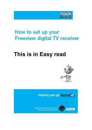 This is in Easy read - Switchover Help Scheme