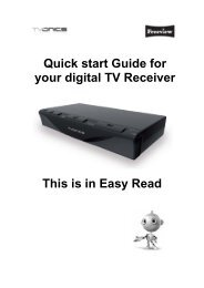 Quick start Guide for your digital TV Receiver This is in Easy Read