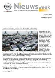 Nummer 43/2013 woensdag 24 april 2013 Ford ... - Ex GM Antwerpen