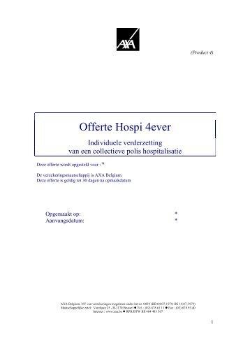 Offerte Hospi 4ever - Ex GM Antwerpen