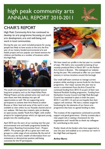 Annual Report 2011.p65 - High Peak Community Arts