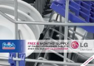 free 6 months' supply of finish dishwasher tablets - LG Blog