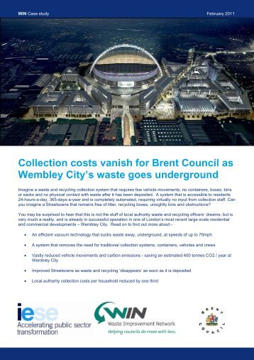 Collection costs vanish for Brent Council as Wembley City's waste ...