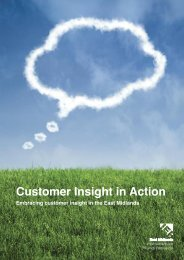 Customer Insight in Action - East Midlands Improvement and ...