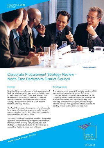 Corporate Procurement Strategy Review - North East Derbyshire ...