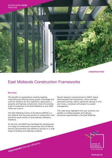 East Midlands Construction Frameworks - East Midlands Councils