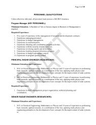 Page 1 of 10 PERSONNEL QUALIFICATIONS Unless otherwise ...