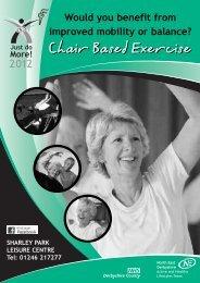 Chair Based Exercise Chair Based Exercise - Active Derbyshire