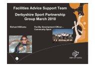 Community use in schools - FAST - Derbyshire Sport