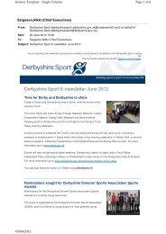 Derbyshire Sport E-newsletter June 2012 (242KB)