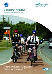Choosing activity: a physical activity action plan (2005) - National ...