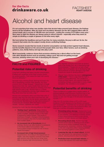 Factsheet - alcohol and heart disease - Safer Derbyshire