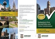 PCC Leaflet - Safer Derbyshire