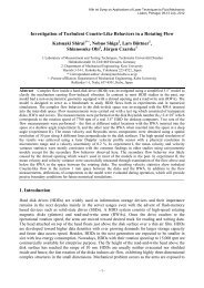 Investigation of Turbulent Couette-Like Behaviors in a Rotating Flow ...