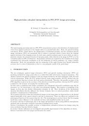 High-precision sub-pixel interpolation in PIV/PTV image processing