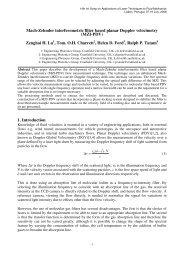 Mach-Zehnder interferometric filter based planar Doppler velocimetry