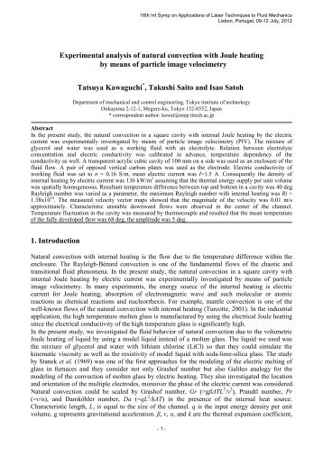 numerical study of laminar mixed convection Numerical investigation of laminar and turbulent mixed convection in a shallow water-filled enclosur november 2010 scientific research and essays in this study, we first modeled laminar mixed convection inside rectangular enclosure with moving wall and 'aspect ratio' = 10 and then the results were compared with other investigators.