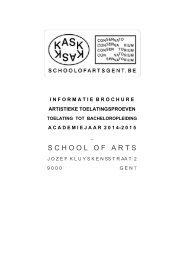 artistieke toelatingsproeven - Hogeschool Gent
