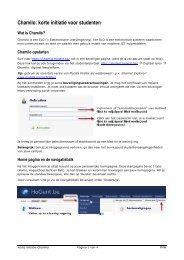 Chamilo: korte initiatie voor studenten - Hogeschool Gent