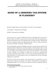signs of a greening tax system in flanders? - Hogeschool Gent