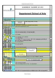 Academische Kalender 2011-2012
