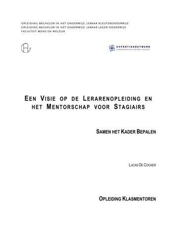 een visie op de lerarenopleiding en het ... - Hogeschool Gent