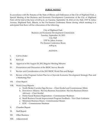 BEDC Packet 9.18.12 online.pdf - Highland Park, IL - Official Website