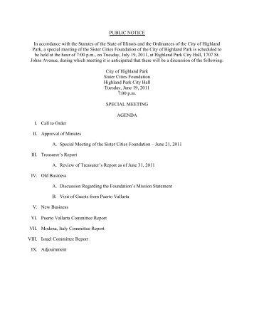 July 19 Packet.pdf - Highland Park, IL - Official Website