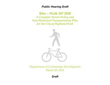Bike – Walk HP 2030 - Highland Park, IL - Official Website