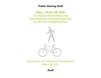Bike – Walk HP 2030 - Highland Park, IL - Official Website