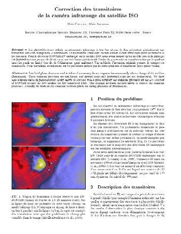 Correction des transitoires de la cam )era infrarouge du satellite ISO ...