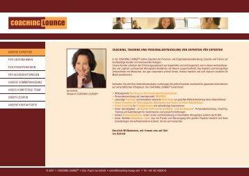 Personalentwicklung: Beratung, Coaching und Leasing ... - Isa Schlott