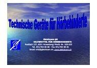Gleichcom AG HILFSMITTEL FÜR HÖRBEHINDERTE