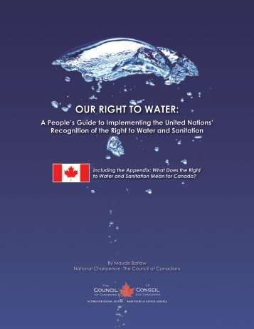 OUR RIGHT TO WATER: - Food & Water Watch
