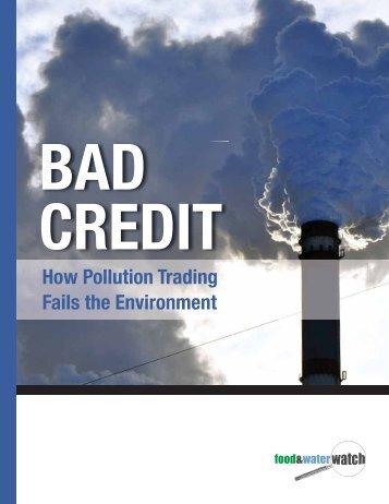 Bad Credit - Food & Water Watch
